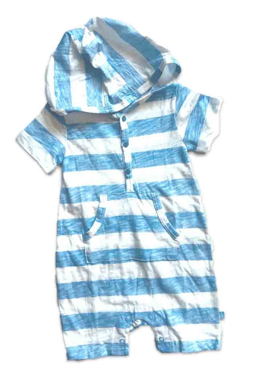 Vaenait Baby Hooded Stripe Romper - Front Cropped Image