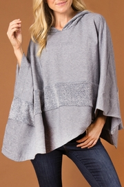 Simply Noelle Hooded Two-Tone Poncho - Product Mini Image