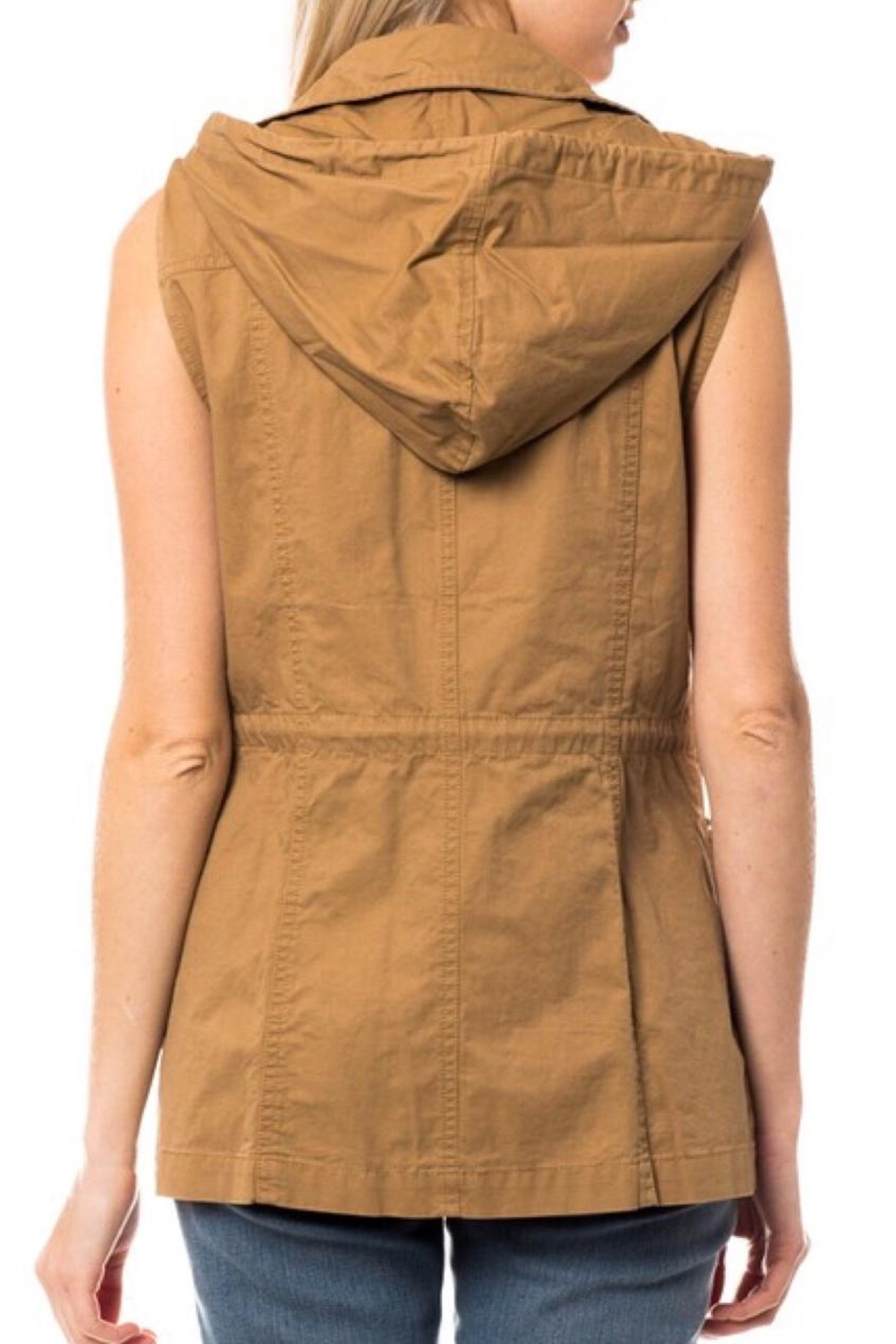 LuLu's Boutique Hooded Utility Vest - Back Cropped Image
