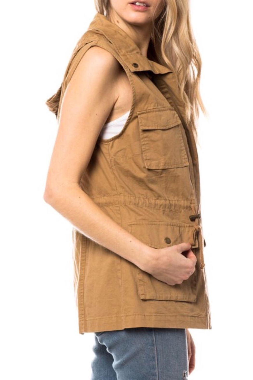 LuLu's Boutique Hooded Utility Vest - Side Cropped Image