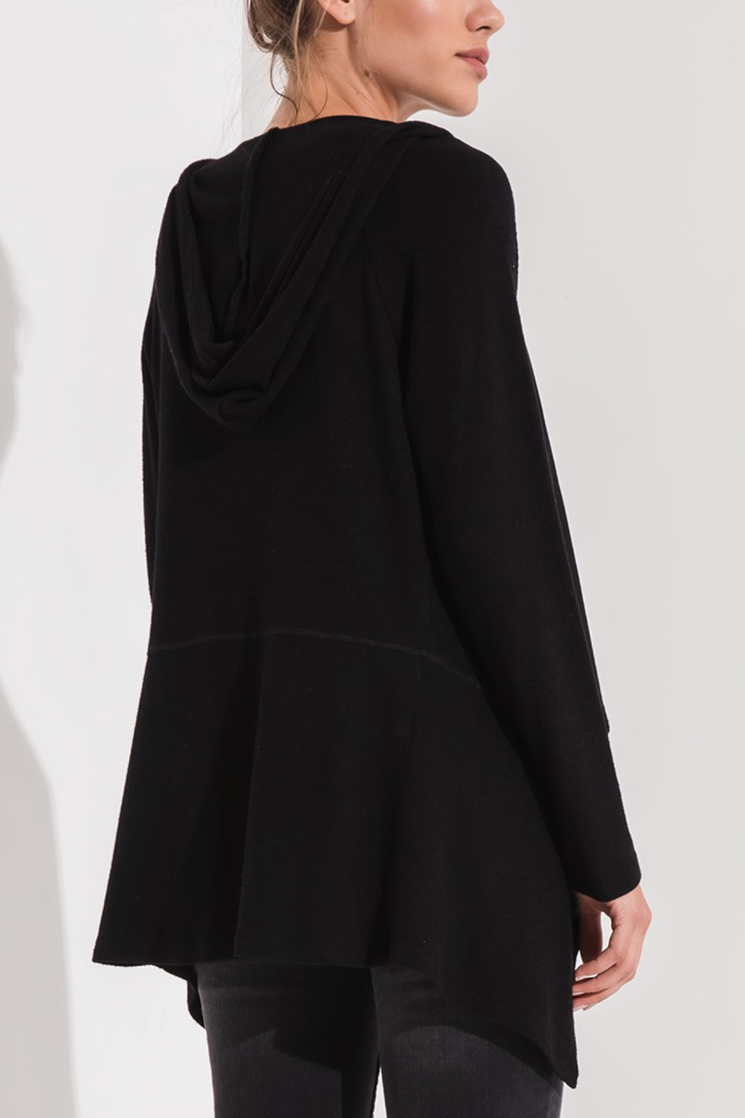 z supply Hooded Waterfall Cardi - Front Full Image