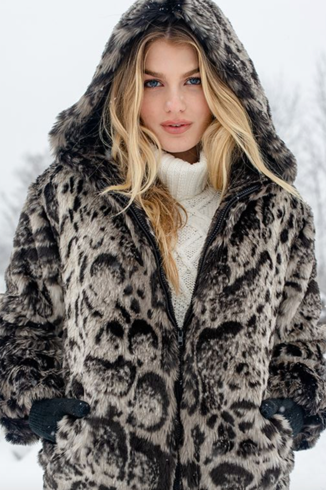 Fabulous Furs Hooded Zip Parka - Front Cropped Image