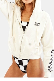 Solid & Striped Hooded Zip Sweatshirt - Product Mini Image