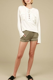 POL Hoodie Crochet Lace-Up - Product Mini Image
