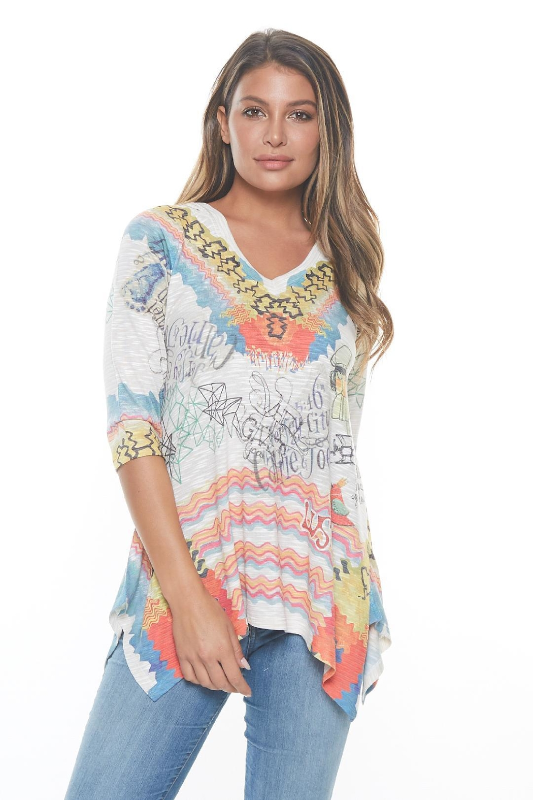 Inoah Hoodie Knit Tunic - Front Cropped Image