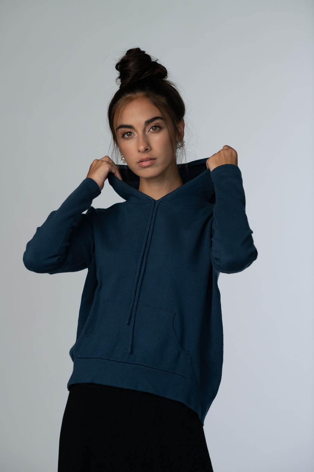 Meli by FAME Hoodie Sweater - Front Cropped Image