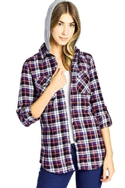BlueAge Jeans Hoodied Plaid Shirt - Product Mini Image