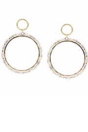 US Jewelry House Hoop Drop Earrings - Product Mini Image