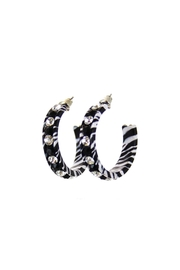 Diane's Accessories Hoop Earrings Zebra - Product Mini Image