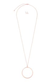 Riah Fashion Hoop Pendant Necklace-Earring-Set - Product Mini Image