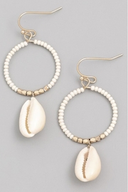 Runway & Rose Hoop Shell Earrings - Product Mini Image