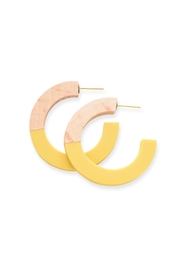 Ink + Alloy Hoop Wood And Resin Earring - Product Mini Image