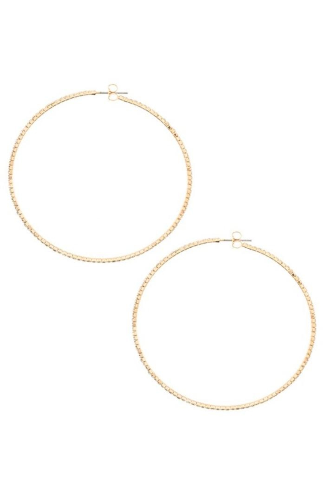 Andrea Bijoux Hoops Luxe - Front Cropped Image