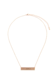 Riah Fashion Hope Bar Necklace - Product Mini Image