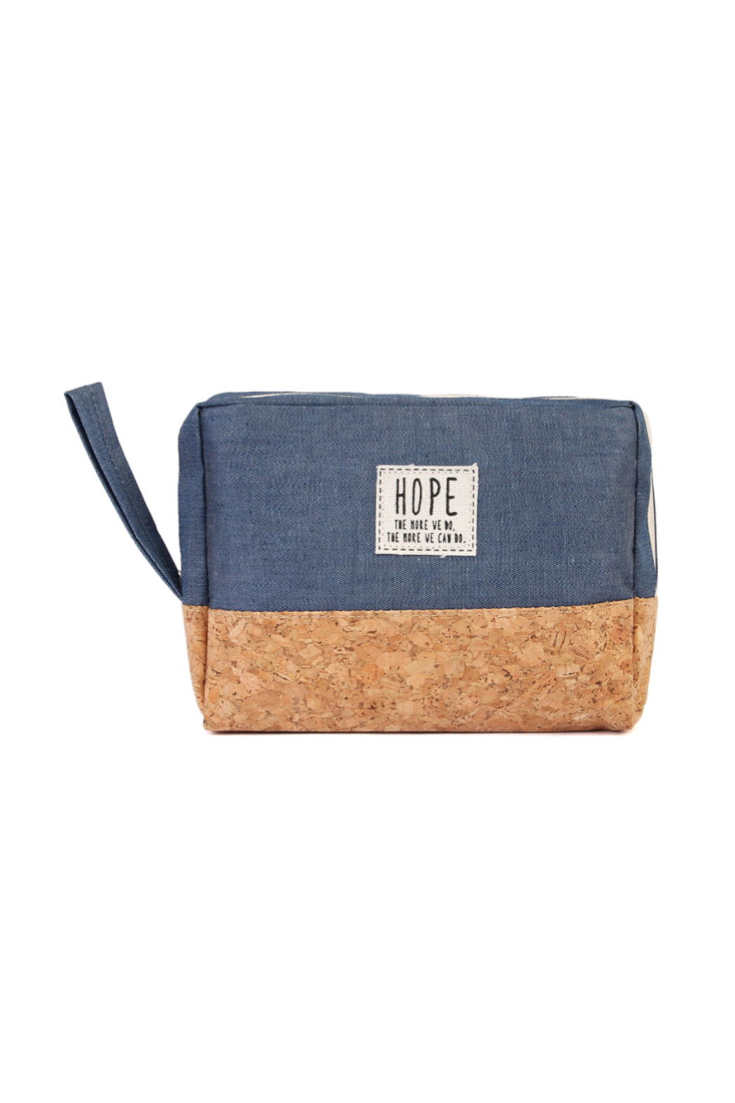 TPO HOPE Blue Canvas Cosmetic Pouch - Main Image