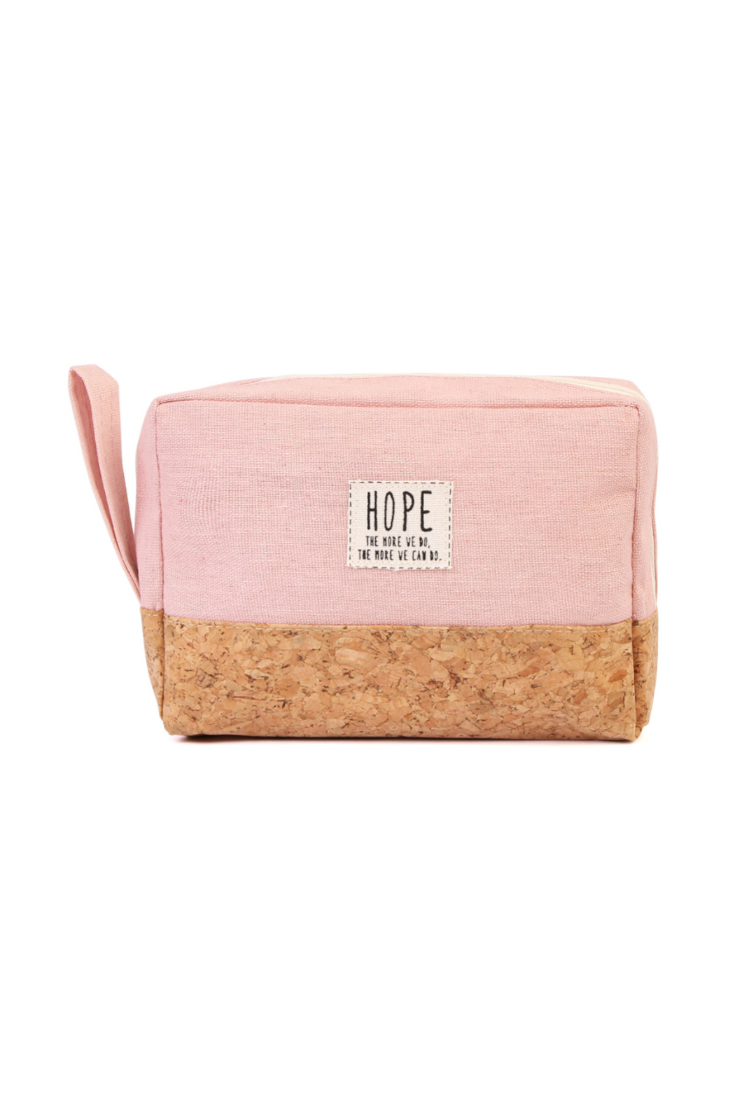 TPO HOPE Pink Canvas Cosmetic Pouch - Main Image