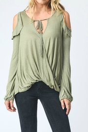 Hopely Cold Shoulder Top - Product Mini Image