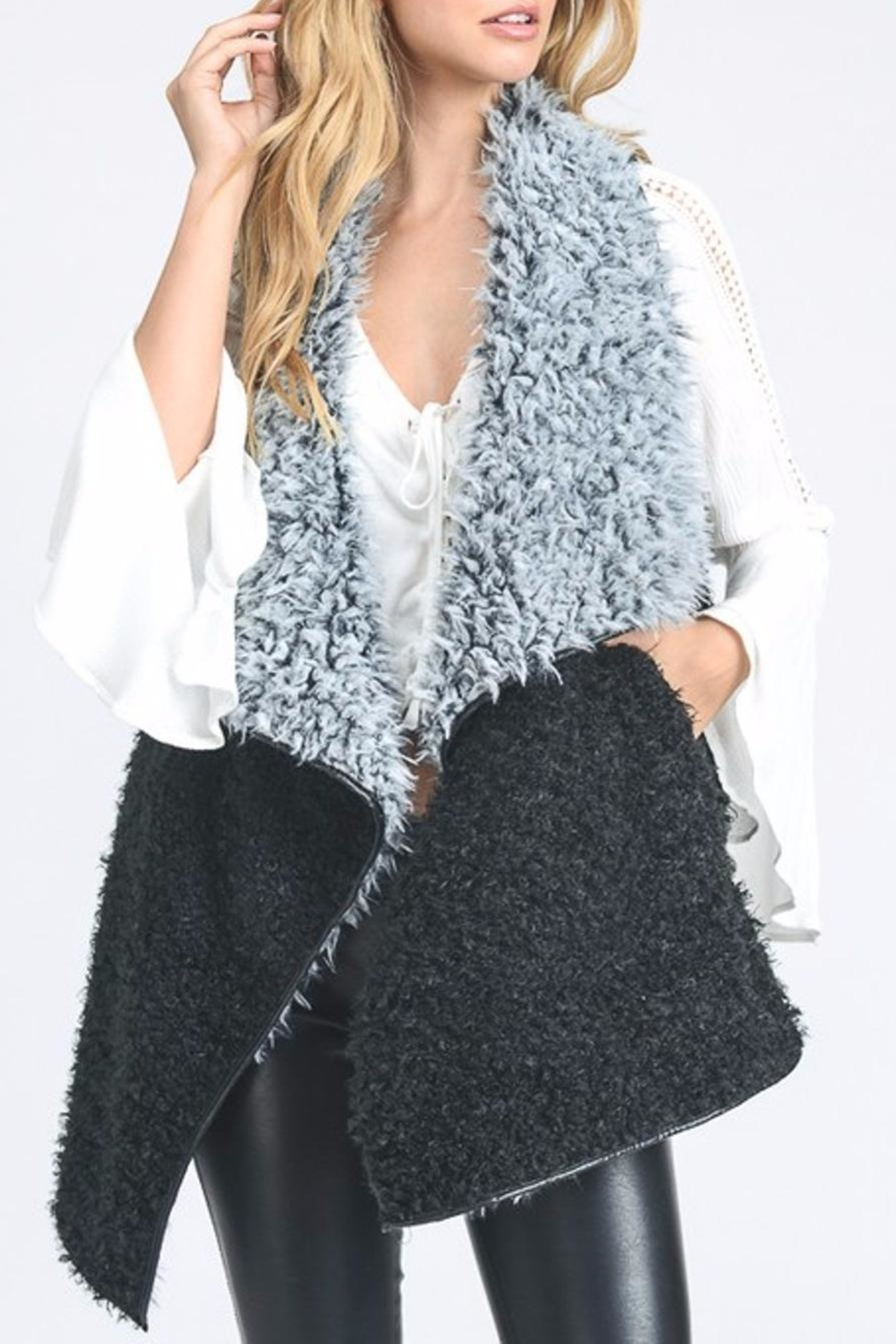 Hopely Furry Front Vest - Main Image