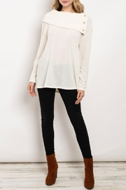 Hopely Ivory Bertha-Collar Top - Front cropped