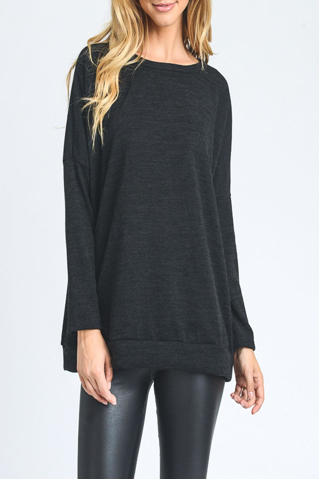 Hopely Knit Top Black - Main Image
