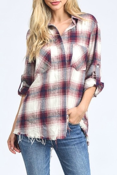 Shoptiques Product: Raw-Hem Plaid Shirt