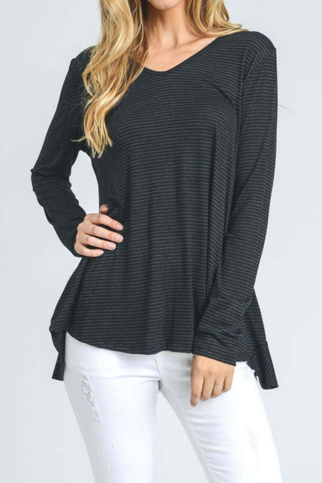 Hopely Stripe Top - Front Cropped Image