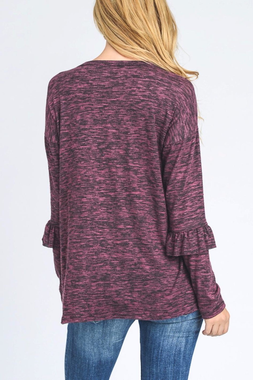 Hopely Top With Ruffles - Side Cropped Image