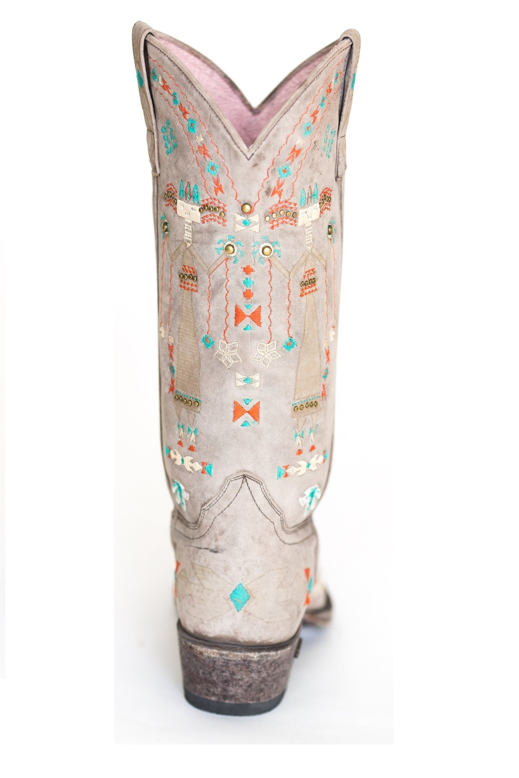 Miss Macie Boots Hopi Embroidered Boot - Back Cropped Image