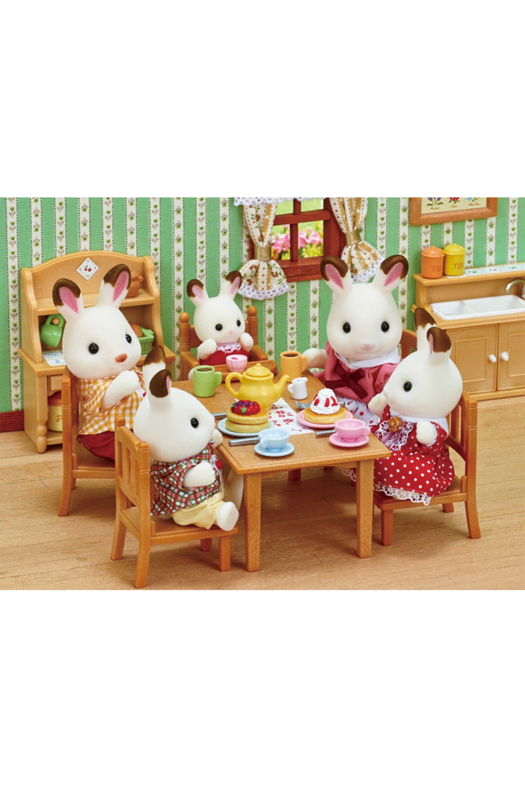 Calico Critters Hopscotch Rabbit Family - Front Full Image
