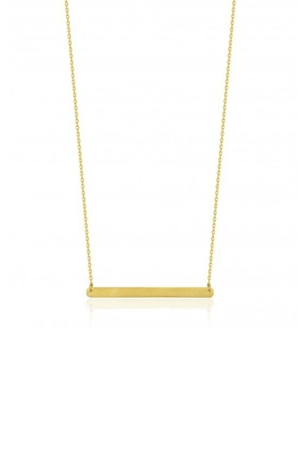 Maison Irem Horizon Bar Necklace - Front Cropped Image