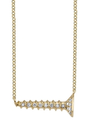 Sydney Evan Horizontal Screw Necklace - Product Mini Image