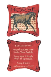 MWW Horse Advice Pillow - Front cropped