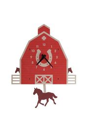 Modern Moose Horse Barn Pendulum Clock - Product Mini Image