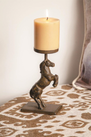 Manual Woodworkers and Weavers Horse Candle Holder - Product Mini Image