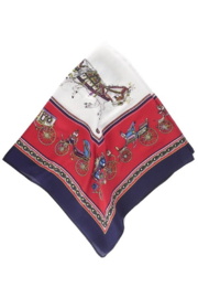 Olive and Pique Horse Carriage Neckerchief - Front full body