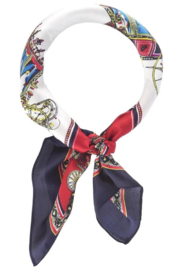 Olive and Pique Horse Carriage Neckerchief - Front cropped