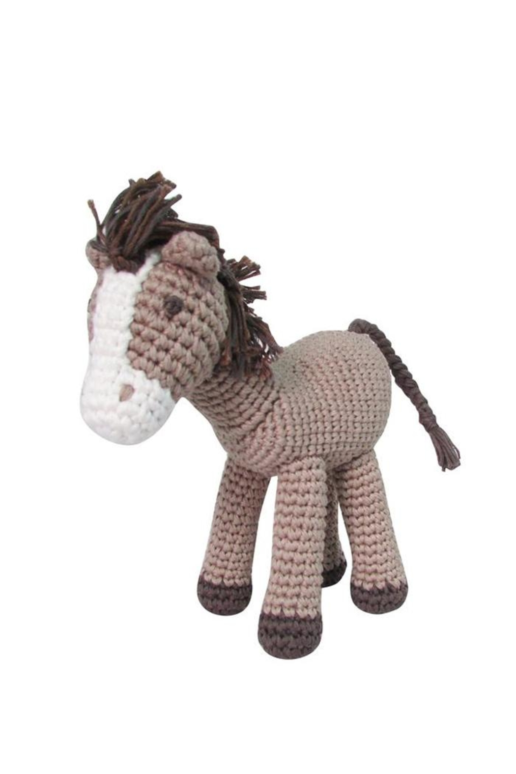 Albetta Horse Crochet Toy - Front Cropped Image