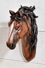 Giftcraft Inc.  Horse Head Wall Hanging - Front cropped