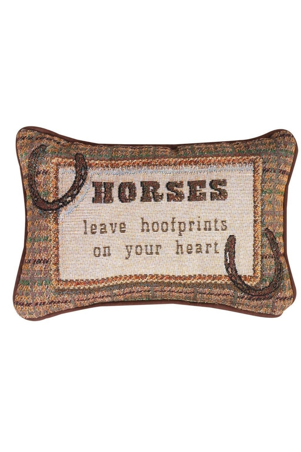 MWW Horse Word-Pillow - Front Cropped Image