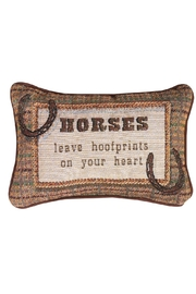 MWW Horse Word-Pillow - Front cropped