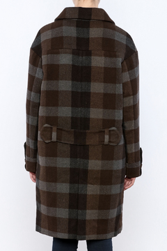Hoss Intropia Checked Plaid Coat - Alternate List Image