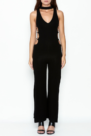 Hot & Delicious Black Widelong Jumpsuit - Front full body
