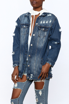 Hot & Delicious Dark Wash Denim Jacket - Product List Image