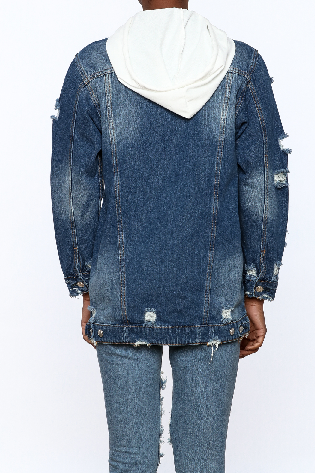 Hot & Delicious Dark Wash Denim Jacket from New York City by Jupe ...