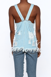 Hot & Delicious Distressed Sleeveless Denim Top - Back cropped