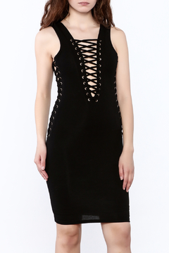 Hot & Delicious Black Eyelet Dress - Product List Image
