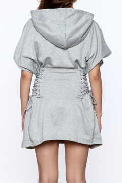 Hot & Delicious Grey Hooded Dress - Alternate List Image