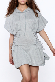 Hot & Delicious Grey Hooded Dress - Product Mini Image