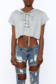 Hot & Delicious Grey Crop Top - Side cropped
