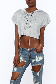 Hot & Delicious Grey Crop Top - Front cropped